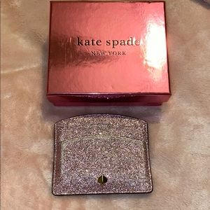 BEAUTIFUL PINK GLITTER KATE SPADE ♠️ CARD HOLDER💕